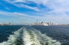 Manhattan und Jersey City, USA Lizenzfreies Stockfoto