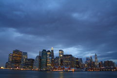 Manhattan under heavy clouds. Panoramic view of midtown Manhattan under heavy clouds Stock Images