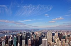 Manhattan under the sky. Manhattan under sky and clouds Royalty Free Stock Photos