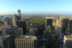 Manhattan Upper Town Skyline, New York City Royalty Free Stock Image