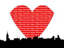Manhattan valentines day Royalty Free Stock Photo