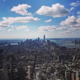 Manhattan van de binnenstad royalty-vrije stock afbeelding