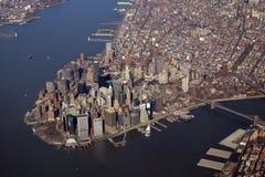 Manhattan van de binnenstad Royalty-vrije Stock Afbeeldingen