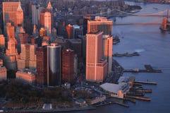 Manhattan van de binnenstad Stock Afbeelding