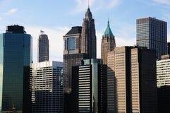 Manhattan van de binnenstad op een dag van de Winters Royalty-vrije Stock Foto's