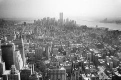Manhattan van het Empire State Building in jaar 2000 stock afbeelding