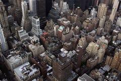 Manhattan van hierboven Stock Foto's