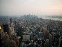 Manhattan van hierboven Royalty-vrije Stock Afbeeldingen