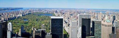 Manhattan veduta dal tetto di uno di più alta costruzione di New York Fotografia Stock