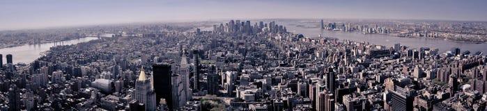 Manhattan veduta dal tetto di uno di più alta costruzione di New York Fotografia Stock Libera da Diritti