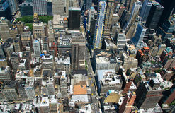 Manhattan view. Manhattan buildings from above, looking down from the Empire State building royalty free stock image