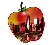 Manhattan view in an apple shape Royalty Free Stock Photo