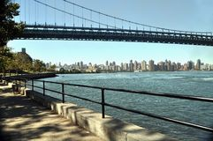 Manhattan view from Astoria park. This is a Manhattan view from Astoria park. It shows the John F. Kennedy bridge Stock Images
