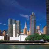 Manhattan. View of Manhattan with Chrysler Building from East River Stock Images