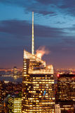 Manhattan view at dusk, New York, USA Stock Images