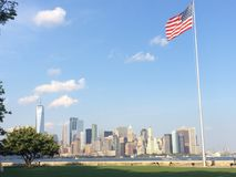Manhattan view from Ellis island Royalty Free Stock Photos