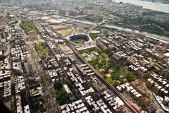Manhattan view from a helicopter, New York, USA Royalty Free Stock Photos