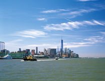 Manhattan. View of the Manhattan Island from the Hudson River Royalty Free Stock Photo