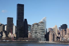 Manhattan, view from Long Island Stock Photography