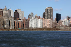 Manhattan, view from Long Island, USA Royalty Free Stock Image