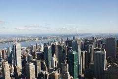 Manhattan view. New York City. Manhattan buildings. View from a tower Royalty Free Stock Image