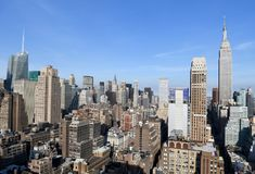 Manhattan view, NYC, USA. Royalty Free Stock Image