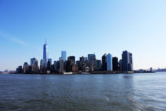 Manhattan. View of manhattan on the riverside in USA Royalty Free Stock Images