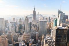 Manhattan. View of Manhattan from the Rockefeller Center Stock Image