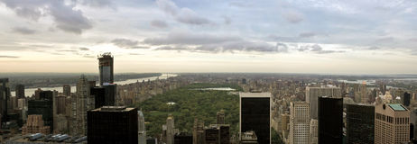 Manhattan view from Rockefeller Center, New York, USA Royalty Free Stock Photography