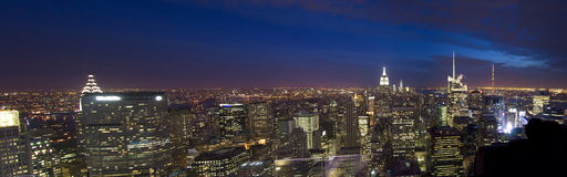 Manhattan view from Rockefeller Center, New York, USA Royalty Free Stock Images