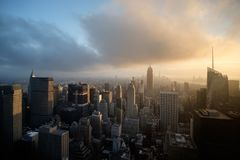 Manhattan view from Rockeffeler center - Top of the rock royalty free stock photography