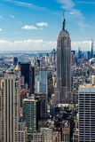 Manhattan view from the roof Royalty Free Stock Photography