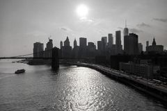 Manhattan and a view of the various buildings royalty free stock photos