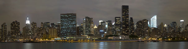 Manhattan viewed from Long Island City Stock Photo