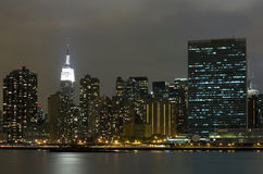 Manhattan viewed from Long Island City Royalty Free Stock Photo