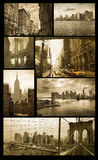 Manhattan views on grunge Royalty Free Stock Image