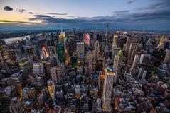 Manhattan - ville de travaux récents - les Etats-Unis Photos stock