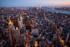 Manhattan - ville de travaux récents - les Etats-Unis Photo stock