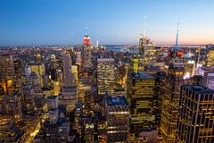 Manhattan - ville de travaux récents - les Etats-Unis Photos libres de droits