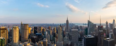 Manhattan - vista da parte superior da rocha - centro de Rockefeller - New York fotografia de stock