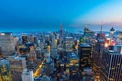 Manhattan - vista da parte superior da rocha - centro de Rockefeller - New York foto de stock