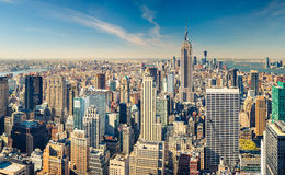 Manhattan-Vogelperspektive Stockbild