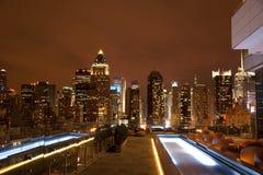 Manhattan von der Dachspitze Lizenzfreies Stockfoto