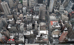 Manhattan von der Empire State Building stockbilder