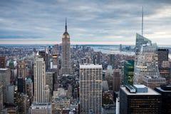 Manhattan von der Rockefeller-Mitte, New York, USA lizenzfreies stockfoto