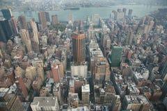 Manhattan von oben Lizenzfreie Stockfotografie