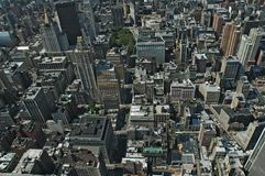 Manhattan von oben Lizenzfreies Stockfoto