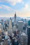 Manhattan - vue à partir du dessus de la roche - centre de Rockefeller - New York Photos libres de droits