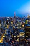 Manhattan - vue à partir du dessus de la roche - centre de Rockefeller - New York Image libre de droits