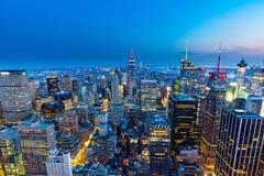Manhattan - vue à partir du dessus de la roche - centre de Rockefeller - New York Photographie stock